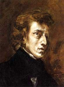 Eugène Delacroix: portrait de Frédéric Chopin. Huile sur toile, 45,7 x 37,5 cm. Paris, Musée du Louvre