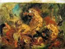 Eugène Delacroix: chasse aux lions. 1854. Huile sur toile, 86 x 115 cm. Paris. Musée d'Orsay