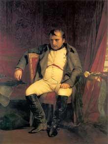 Paul Delaroche: Napoléon abdiquant à Fontainebleau. 1845. Huile sur toile. 138 x 180 cm. Leipzig, Museum der Bildenden Kunste