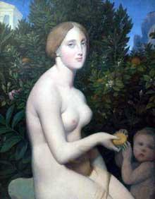 Alexandre Desgoffe: Vénus à Paphos. Vers 1852-1853. Huile suer toile, 71 cm x 92 cm. Paris, Musée d'Orsay