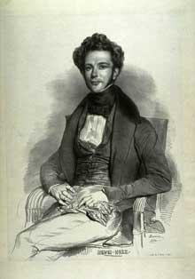 Achille Dévéria: portrait de Henri Herz. Lithographie