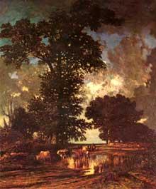 Jules Dupré: La mare aux chênes. 1850. Huile sur toile, 65 x 55 cm. Paris, musée du Louvre