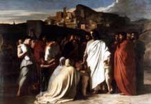 Hippolyte Flandrin: Jésus bénit les enfants. 1837-1838. Huile sur toile, 326 x 440. Lisieux, musée des beaux Arts