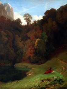 Paul Flandrin: la solitude. Huile sur toile, 52 x 62 cm. Paris, Musée du Louvre
