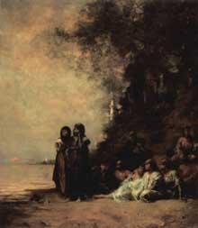 Eugène Fromentin: un souvenir d'Esneh. 1876. Huile sur toile, 120 x 105 cm. Paris, Musée d'Orsay