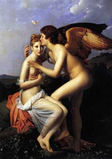 François Pascal Simon, baron Gérard: Cupidon et Psychè. 1798. Huile sur toile, 186 x 132 cm. Paris, Musée du Louvre