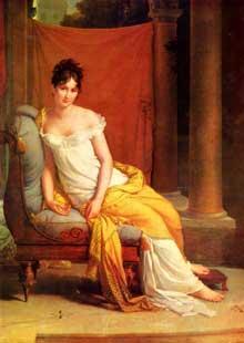 François Pascal Simon, baron Gérard: Madame Récamier. 1802. Huile sur toile, 255 x 145 cm. Versailles, Château de Versailles et de Trianon
