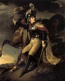 Théodore Géricault: Cuirassier blessé quittant le feu, 1814. Huile sur toile, 358 x 294 cm. Paris, Musée du Louvre