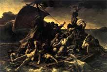Théodore Géricault: le radeau de la Méduse. 1818-1819. Huile sur toile, 491 x 716 cm. Paris, Musée du Louvre