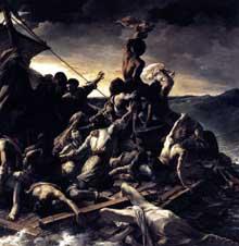 Théodore Géricault: le radeau de la Méduse, détail. 1818-1819. Huile sur toile. Paris, Musée du Louvre