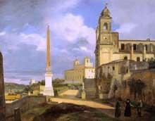 François Marius. Granet: La Trinité-des-Monts et la Villa Médicis, à Rome. 1808. Huile sur toile. Paris, Musée du Louvre