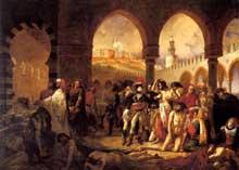 Antoine Jean, baron Gros: Bonaparte visitant les pestiférées de Jaffa. 1804. Huile sur toile, 73 x 59 cm. Paris, musée du Louvre