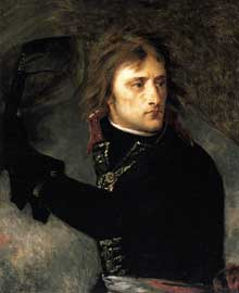 Antoine Jean, baron Gros: Bonaparte au pont d'Arcole (détail). 1796. Huile sur toile, 72 x 59 cm. Paris, Musée du Louvre