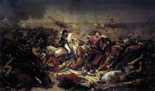 Antoine Jean, baron Gros: la bataille d'Aboukir. 1806. Huile sur toile, 578 x 968 cm. Versailles, Musée National du Château.