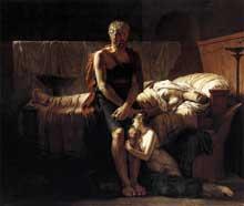 Pierre Narcisse Guérin: Le retour de Marcus Sextus. 1799. Huile sur toile, 217 x 243 cm. Paris, Musée du Louvre