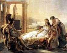 Pierre Narcisse Guérin: Didon et Enée. Vers 1815. Huile sur toile, 292 x 390 cm. Paris, Musée du Louvre