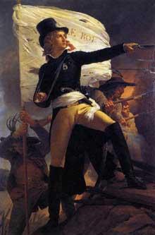 Pierre Narcisse Guérin: Henri de la Rochejaquelin. 1817. Huile sur toile, 216 x 142 cm. Cholet, Musée Municipal
