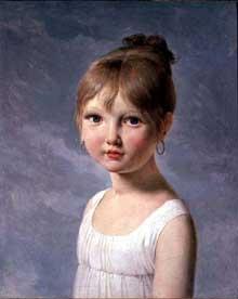 Pierre Narcisse Guérin: la fille de l'artiste. Huile sur toile, 46 x 38 cm. Avignon, musée Calvet