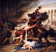 François Joseph Heim: La mise à sac de Jérusalem par les Romains.1824. Huile sur toile. New York, Metropolitan Museum of Art