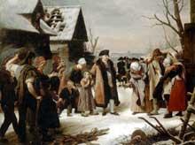 Louis Hersent: Louis XVI distribue de la nourriture aux pauvres. 1817. Huile sur toile.