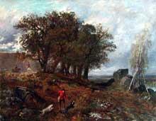 Paul Huet: la forêt de Fontainebleau. Vers 1868. Huile sur toile, 125 x 87 cm. Paris, musée du Louvre