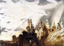 Le Gai Château, 1897. Encre, lavis et crayon sur carton - 15,8 x 22,2 cm. Paris, Maison de Victor Hugo