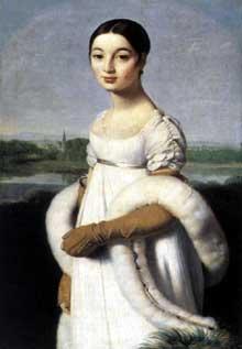 Jean Auguste Dominique Ingres: Mademoiselle Rivière. 1806. Huile sur toile, 100 x 70 cm. Paris, Musée du Louvre