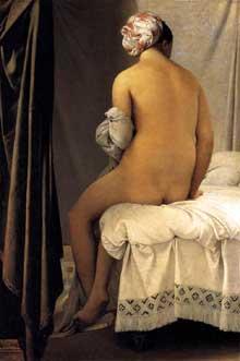 Jean Auguste Dominique Ingres: La baigneuse. 1808. Huile sur toile, 146 x 97 cm. Paris, Musée du Louvre