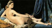 Jean Auguste Dominique Ingres: La grande Odalisque. 1814. Huile sur toile, 91 x 162 cm. Paris, Musée du Louvre