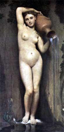 Jean Auguste Dominique Ingres: La Source. 1820. Huile sur toile, 83 x 163 cm. Paris, Musée d'Orsay