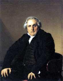 Jean Auguste Dominique Ingres: Monsieur Bertin. 1832. Huile sur toile, 116 x 95 cm. Paris, Musée du Louvre