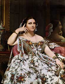 Jean Auguste Dominique Ingres : Madame Moitessier. 1856. Huile sur toile, 120 x 92 cm. Londres, National Gallery