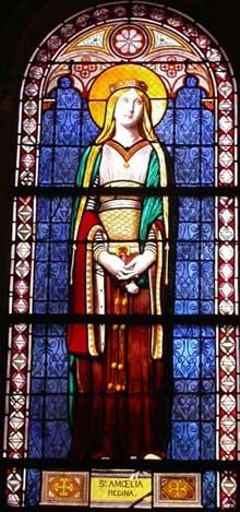 Jean-Auguste Dominique Ingres: Sainte-Amélie. Vitrail. Paris, Chapelle de la Compassion (Saint-Ferdinand)