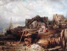 Eugène Isabey: plage à marée basse. 1833. Huile sur toile, 124 x 168 cm. Paris, musée du Louvre