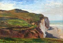 Eugène Isabey: falaise en Normandie. Huile sur toile. Dieppe, Musée du château