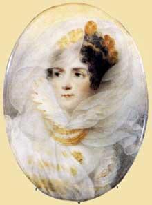 Jean-Baptiste Isabey: L'impératrice Joséphine. Vers 1808. Couleurs à l'eau, 135 x 95 mm. Couleurs à l'eau, 135 x 95 mm. Londres, Wallace Collection