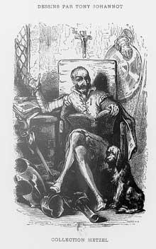 Tony Johannot: frontispice de «Don Quichotte». Paris, Bibliothèque nationale