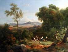 Achille Etna Michallon: Paysage inspiré de la vue de Frascati. 1822. Huile sur toile, 171 x 127 cm. Paris, Musée du Louvre