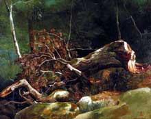 Achille Etna Michallon: la branche cassée, forêt de Fontainebleau. Huile sur toile, 41 x 51 cm. New York, Metropolitan Museum