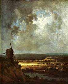 Georges Michel: moulin. 1820-1830. Huile sur toile, 46 x 38 cm. Londres, Victoria and Albert Museum
