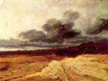Georges Michel: orage. 1820-1830. Huile sur toile, 48 x 63 cm. Strasbourg, musée des Beaux Arts