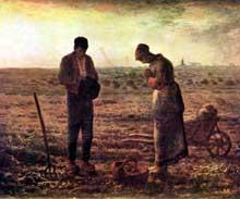 Jean-François Millet: L'Angélus. 1859. Huile sur toile, 53 x 66 cm. Paris, Musée d'Orsay