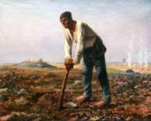 Jean-François Millet: l'homme à la houe. 1860-1862. Huile sur toile. Los Angeles, Paul Getty Museum