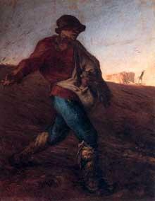Jean-François Millet: le semeur. 1850. Huile sur toile. Boston, Musée des Beaux Arts