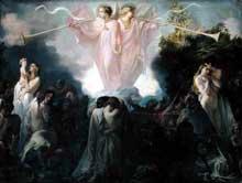 Victor Mottez: la résurrection des morts. Huile sur toile, 48 x 196 cm. Lille, Musée des Beaux-Arts