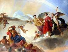 François Edouard Picot: L'Etude et le Génie dévoilent l'antique Egypte à la Grèce. Peinture sur plafond, 1826 – 1827. Paris, musée du Louvre