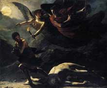Pierre Paul Prud'hon: La Justice et la Vengeance divine poursuivant le Crime. 1808. Huile sur toile, 244 x 294 cm. Paris, Musée du Louvre