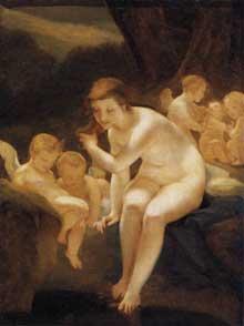 Pierre Paul Prud'hon: Venus au bain. Vers 1810. Huile sur toile, 134 x 103 cm. Paris, Musée du Louvre