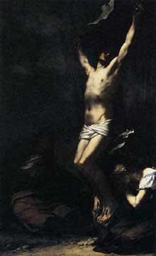 Pierre Paul Prud'hon: Crucifixion. 1822. Huile sur toile, 278 x 166 cm. Paris, Musée du Louvre