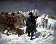 Auguste Raffet: le maréchal Ney à la redoute de Kovno. Huile sur toile, 42 x 34 cm. Paris, musée du Louvre